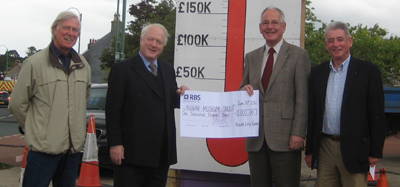 Cheque presentation Friday 1st July 2011